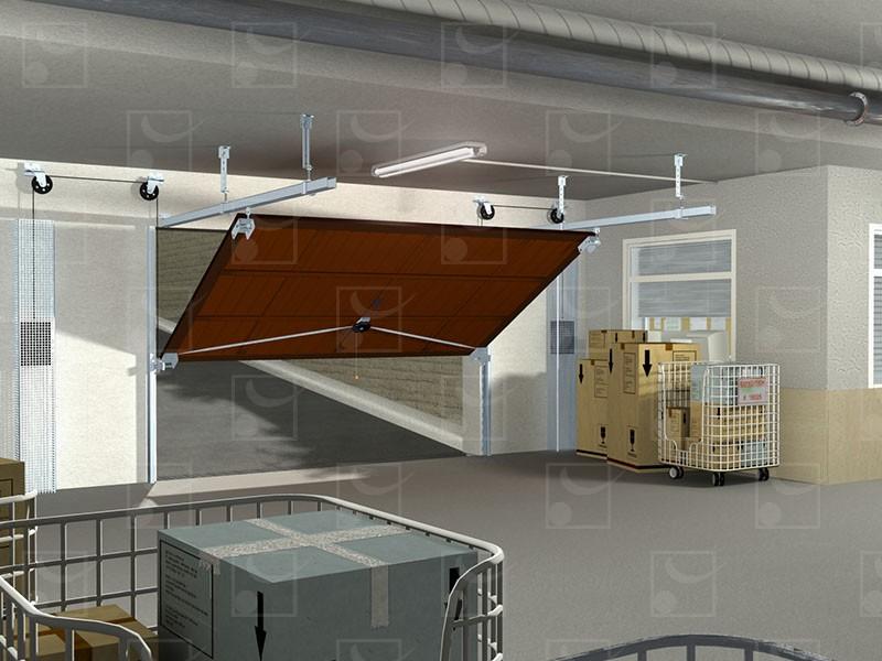 Série 4000 – Porte basculante habitat - Image 1