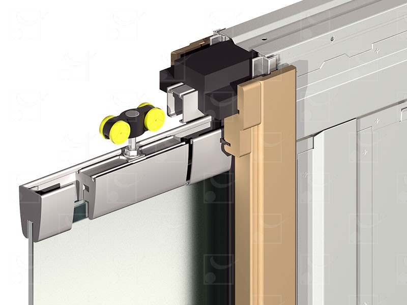 SAFGLASS-INSIDE Set for double leaves glass door - Image 2