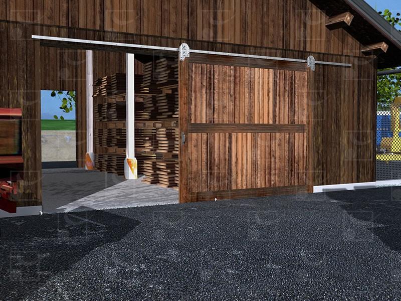 Portes à déplacement droit sur fer plat - Image 1