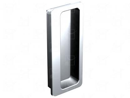 Rectangular recessed handles chrome-plated metal