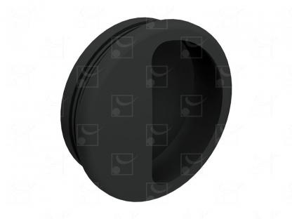 Round recessed handles black colour