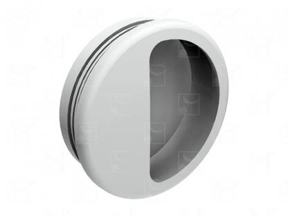 Round recessed handles white colour