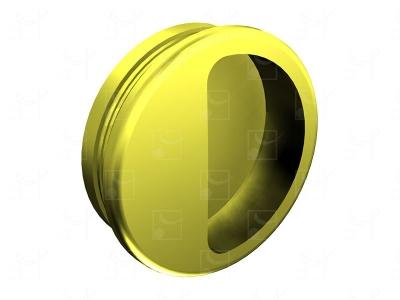 Round recessed handles gold colour