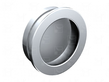 Round recessed handles chrome-plated metal