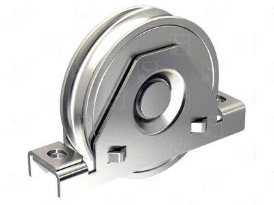 Wheel with stainless steel internal plates