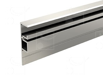 Anodised Profile for installation of the fixed glass panel