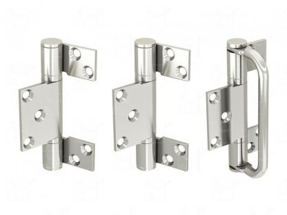 Set of hinges