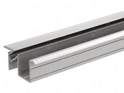 Profil aluminium anodisé - 6 m