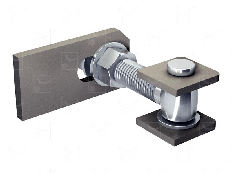 Gates mounted on pivots – Adjustable hinge (180°opening)