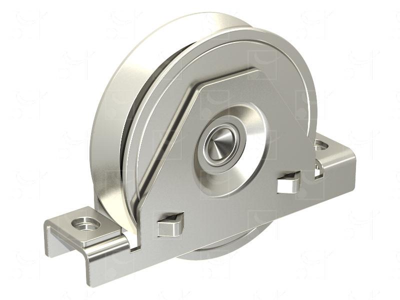 Sliding gates – Steel wheels – Steel internal mounting bracket – Triangular groove wheels