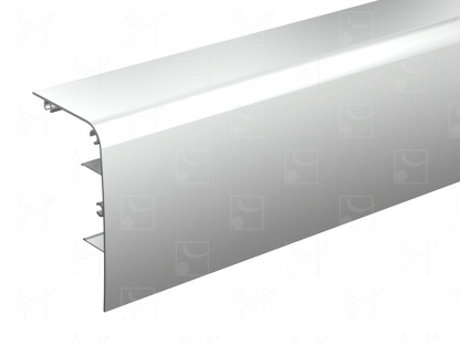 Raw aluminum pelmet – 4 m