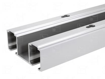 Aluminium double track – L : 2.997m