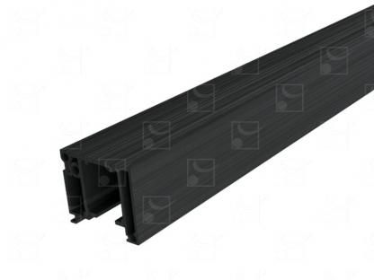 Kit rail anodisé brossé noir – sur mesure