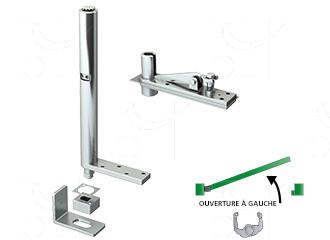 Kits pivots ferme-porte pour portes