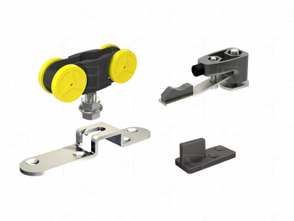 Gear without track for doors up to 80 Kg