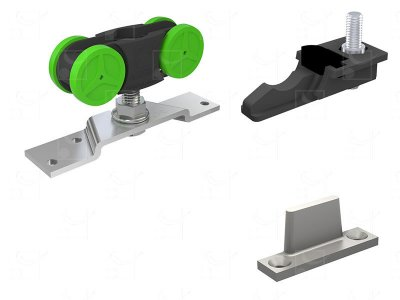 Complete gear without track for doors up to 40 kg
