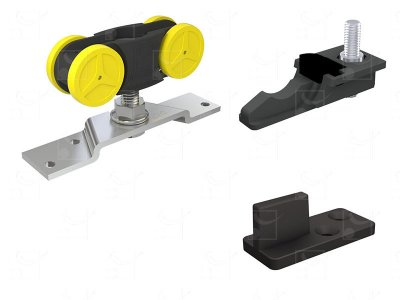 Complete gear without track for doors up to 80 kg