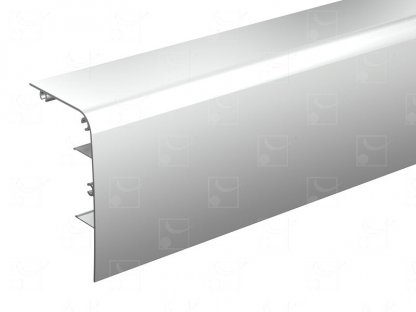 Raw aluminum pelmet – 2 m