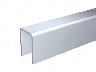 Aluminium U-profile - 6 m