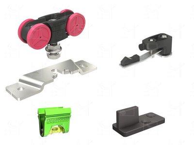 Gear for 1 door weighing 10-80 kg