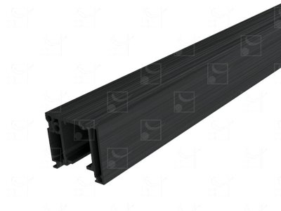 Kit rail anodisé brossé noir - sur mesure