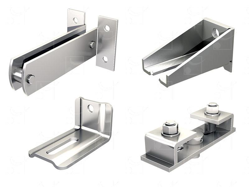 Fixation: rails pour portes coulissantes - Image 1