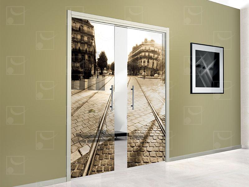 SAFGLASS-INSIDE Set for double leaves glass door - Image 1