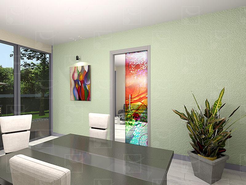 SAFGLASS-INSIDE Set for single leaf glass door - Image 1