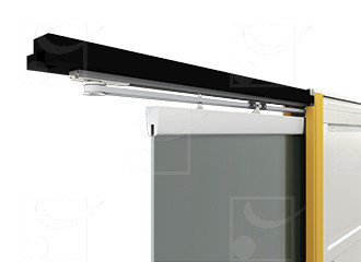 Wired or radio-controlled motorisation for single 735x2040mm glass door (without a switch)