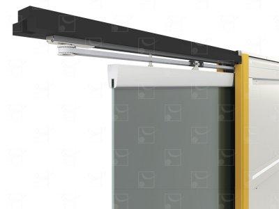 Motorisation filaire ou radio pour porte simple en verre 835 x 2040 mm (sans interrupteur)