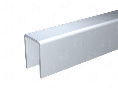 Aluminium U-profile - 2 m