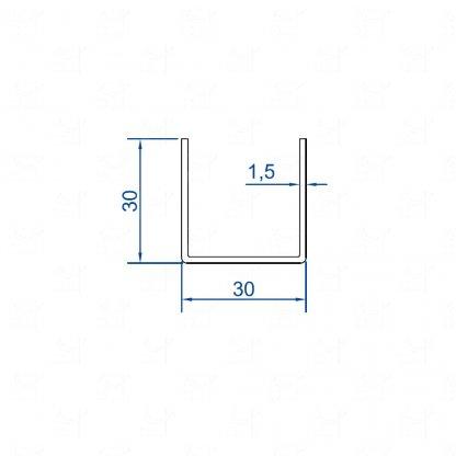 U-profile – L = 3 m