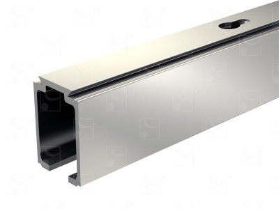 Rail aluminium anodisé - 3 m