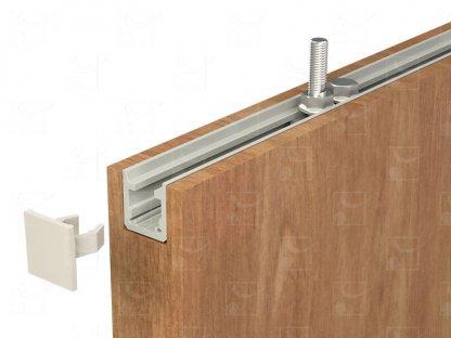 Kit de fixation encastré pour porte en bois