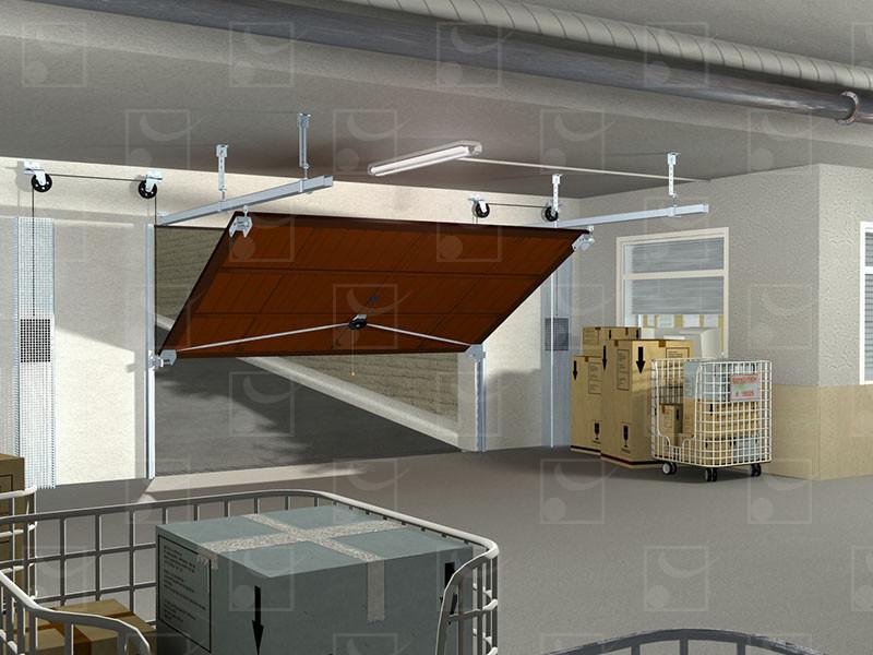 Série 4000 – Portes basculantes industrielles (rail 8570) - Image 1
