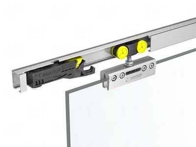 Set for 8, 10 and 12mm thick doors - Opening of up to 0,96m