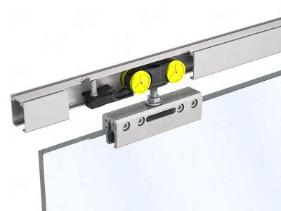 Set for one 8-10-12 mm door - opening of 1 m