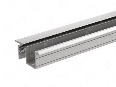 Anodised aluminium profile - 3 m