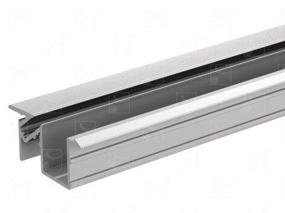 Anodised aluminium profile - 6 m