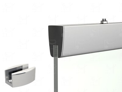 Kit de fixation pour porte en verre 8 mm