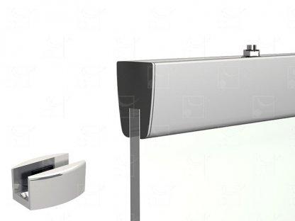 Kit de fixation pour porte en verre 10 mm