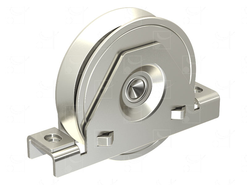 Sliding gates – Steel wheels – Steel internal mounting bracket – Triangular groove wheels - Image 1