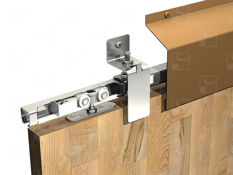 Système pour volets coulissants WIN-STH Rail Inox A2 (304L) 80 kg - Image 1