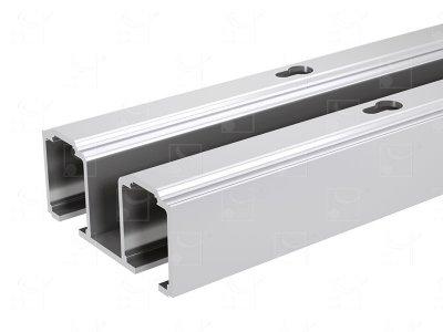 Aluminium double track - L : 1.981 m