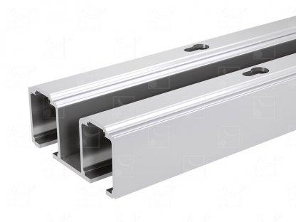 Aluminium double track – L : 1.981 m