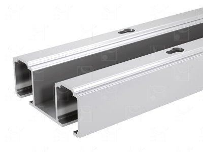 Aluminium double track - L : 2.997m