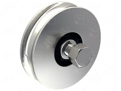 Round groove wheel