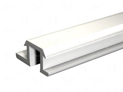 Rail PVC blanc - 2 m