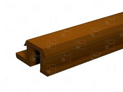 Rail PVC marron - 2 m