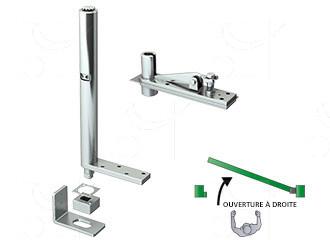 Closer pivot kits for doors